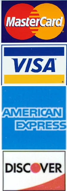 We accept Master Card & Visa